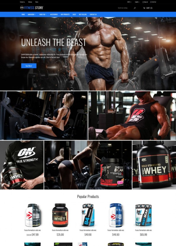 Fitness Store PrestaShop Theme