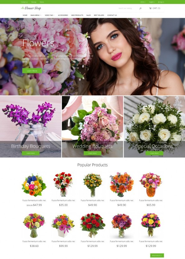 Flower Shop PrestaShop theme