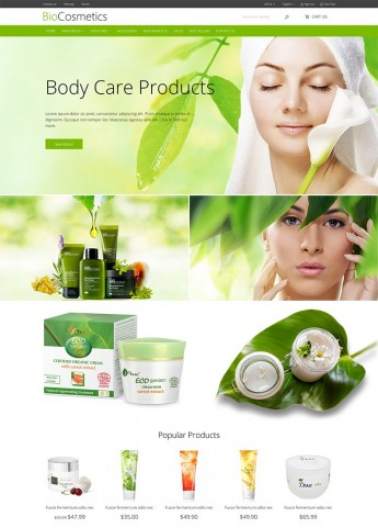 DT BioCosmetic Prestashop Theme