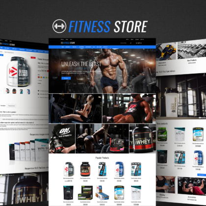 Fitness Store PrestaShop theme promo
