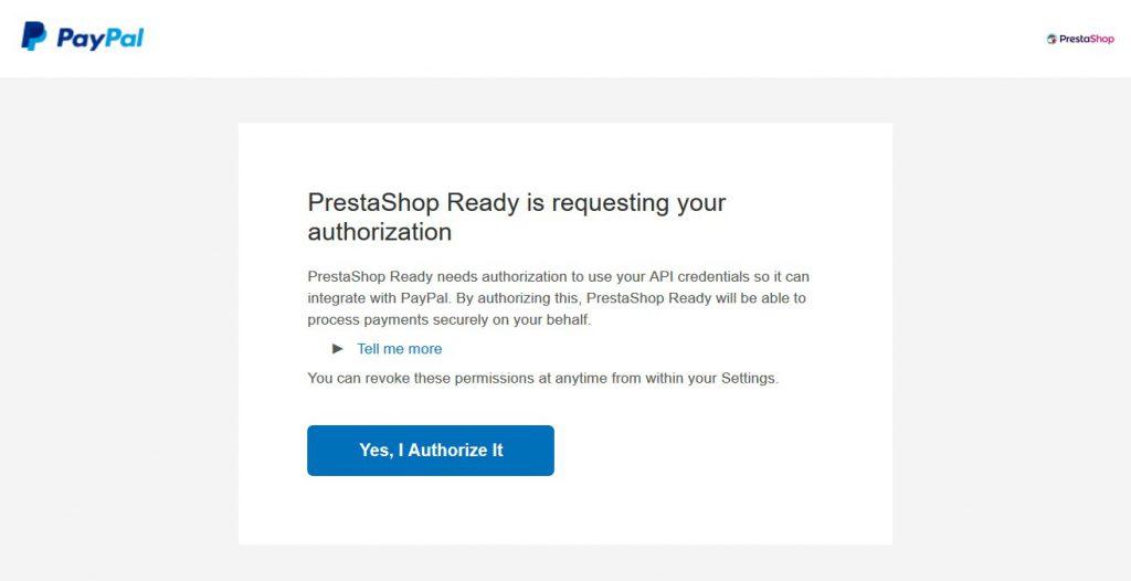 Paypal module PrestaShop step 3