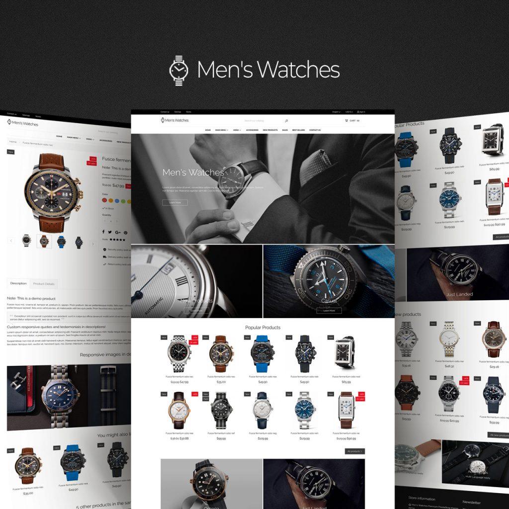 Men's Watches PrestaShop Theme