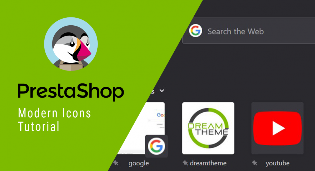 PrestaShop modern icons and favicons cover